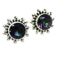 Cosmos - Mystic Topaz & Sterling Silver Stud Earrings