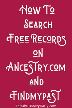 Ancestry and Findmypast Offer Millions of Genealogy Records for Free - Family Problems Free Genealogy Records, Free Genealogy Sites, Genealogy Research, Family Genealogy, Ancestry Free, Ancestry Websites, Family Tree Research, Family Tree Chart, Family Trees