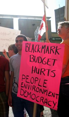 """Black Mark Budget  Hurts People Environment"""