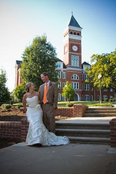 Clemson Girl Wedding Wednesday - Kristin and Scott, Clemson wedding photos and love story.