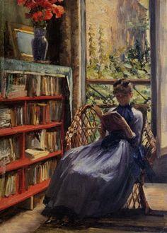 Louise Breslau : La liseuse 1891 Huile sur toile