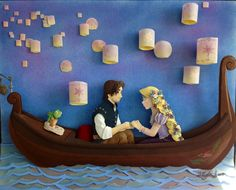 Tangled paper sculpture.