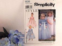 Girls Princess Dress Sewing Pattern Uncut Simplicity 9036 Size 1/2-4 Fairy Angel
