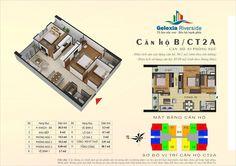 Căn hộ B, 3 phòng ngủ. Tòa căn hộ CT2A - Chung cư Gelexia Riverside - 885 Tam Trinh