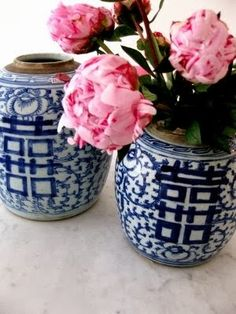 ginger jars....blue and white china