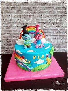 Trolls cake Cake Ideas, Birthday Cake, Cakes, Desserts, Food, Birthday Cakes, Postres, Cake Makers, Mudpie