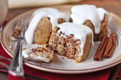 Healthy Gluten Free Cinnamon Rolls with Greek Yogurt Frosting - Healthy Dessert Recipes at Desserts with Benefits