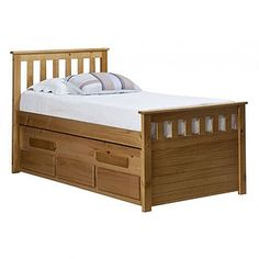 En couleur pin miel un beau lit Gigogne