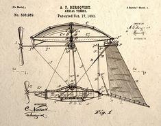 Steampunk-Wall-Art-Print-Aerial-Vessel-Patent-Drawing