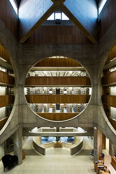 Phillips Exeter Academy Library, designed by Louis I. Kahn.