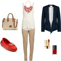 Be Professional this would be a cute first day of work outfit! i love the redthis would be a cute first day of work outfit! i love the red Cute Work Outfits, Pretty Outfits, First Day Of Work, Professional Attire, Business Casual Outfits, Work Fashion, Fashion Ideas, Work Attire, Work Casual