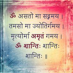 शांति Hinduism Quotes, Sanskrit Quotes, Sanskrit Mantra, Vedic Mantras, Yoga Mantras, Hindu Mantras, Hindu Vedas, Shiva Hindu, Hindu Rituals
