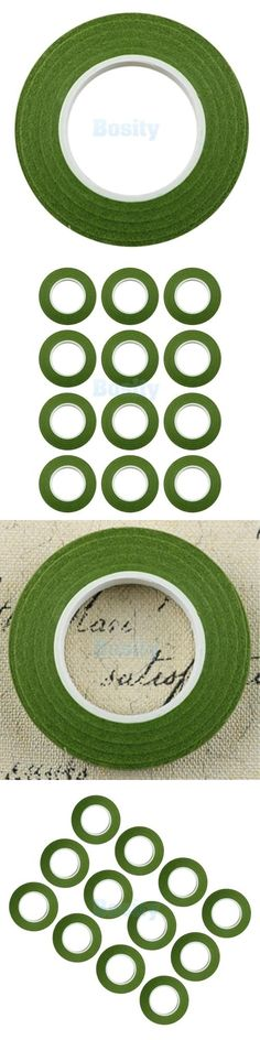 "Dress My Crafts Self-Adhesive Floral Tape .5/""X60/'-Olive Green"
