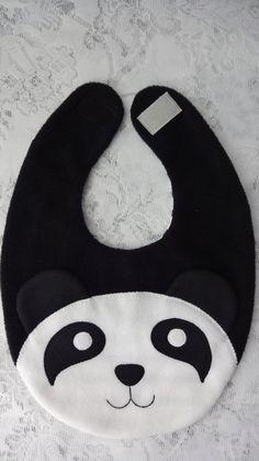 Panda Bib Infant Baby Bib Animal Fleece Bib Animal by .- Panda Bib Infant Baby Lätzchen Tier Fleece Lätzchen Tier von DinkyDimples – Panda Bib Infant Baby Bib Animal Fleece Bib Animal by DinkyDimples – - Diy Baby Bibs Pattern, Baby Bibs Patterns, Bib Pattern, Sewing Patterns, Baby Sewing Projects, Sewing For Kids, Sewing Crafts, Baby Scarf, Baby Turban