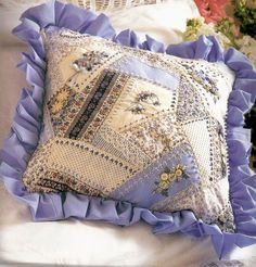 Lovely embellished pillow