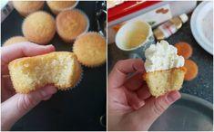 Basisrecept voor zachte vanille cupcakes   Ramadanrecepten.nl Vanille Cupcakes, Cornbread, Ethnic Recipes, Desserts, Mini, Food, Recipes, Millet Bread, Tailgate Desserts