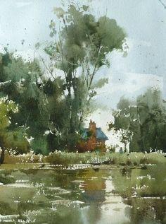 Chien Chung Wei Jun 17 Watercolor Art, Art Painting, Landscape Paintings, Watercolor Trees, Art Drawings, Watercolor Art Landscape, Painting, Watercolor Landscape Paintings, Art