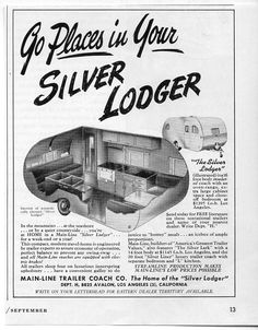 1947 travel trailer ad