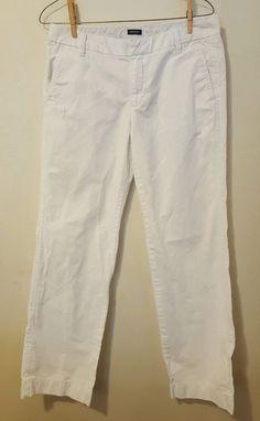 Women's Gap Boys Cut White Khaki Chino Boy Cut Pants Size 4 Reg #415 in Clothing, Shoes & Accessories, Women's Clothing, Pants | eBay