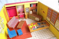 Image result for 1962 barbie dream house