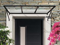 House Entrance, Entrance Doors, Patio Doors, Metal Awnings For Windows, Banco Exterior, Front Door Awning, Pergola, Patio Door Coverings, Backyard Shade