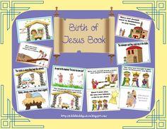 Birth of Jesus Christmas book free preschool printable