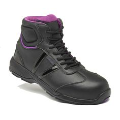 996a3bd639b1 Rama Metal Free Lightweight Black Microfiber Ladies Safety Trainer Boots  Safety Footwear