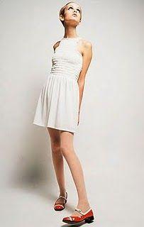 mod little white dress.
