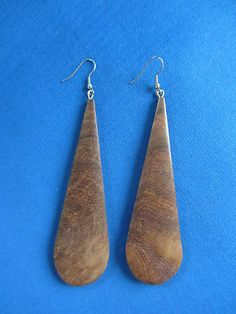 African Jewelry Natural Wood PENDANT Earrings G