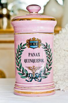 1920s Pink Apothecary Jar