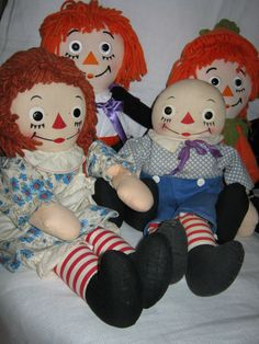 Raggedy Ann and Andy Dolls. My entire bedroom was decorated in Raggedy Ann and Andy until I was about 7 or 8 years old.