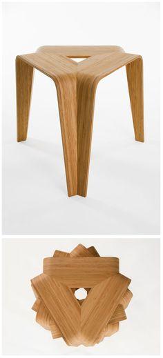 Stool Bamboo stool by Artek Walnut Furniture, Bamboo Furniture, Rattan Furniture, Small Furniture, Plywood Furniture, Table Furniture, Furniture Design, Furniture Ideas, Baby Furniture Sets