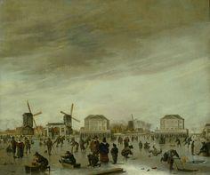 Hendrick Dubbels, De blokhuizen in de Amstel bij winter, ca. 1651-'54. Amsterdam Museum