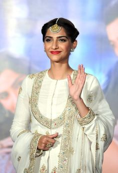 Pin for Later: 21 Times We Were Bowled Over by the Beauty of Sonam Kapoor 2015 Sonam's eyes sparkled even more than usual at an event promoting the film Prem Ratan Dhan Payo due to her traditional tikka headpiece.