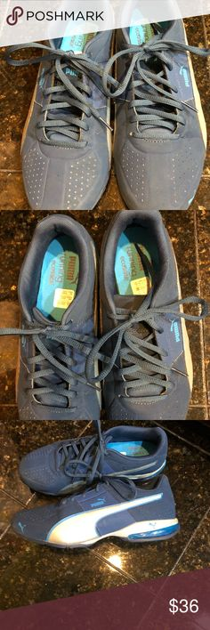 e9d68bbb711c32 Men s eco Ortho puma blue and silver sneakers 7.5 Puma men s blue and  silver size 7.5