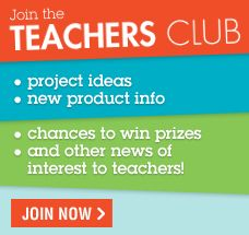 Join the Elmer's Teachers' Club, an online club where members receive email newsletters with project ideas, new product information, chances to win prizes, and other news of interest to Teachers. Once you register, you're a Teachers' Club member for life! It's just one more way Elmer's helps teachers in the classroom.