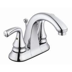 Robinet de lavabo levier avec poign es en porcelaine et for Robinet salle de bain home depot