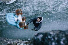By Anze Osterman - Skateboarding on ice