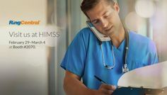 Join RingCentral at #HIMSS, Feb 29 - March 4 in Las Vegas, to Learn How Advances in #Cloud #Communications are Changing the Way We Work in the #Healthcare Industry // #HIPAA #Technology #Tradeshow