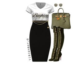 """""""Untitled #1515"""" by visionsbyjo on Polyvore featuring Plein Sud, Hermès, Christian Louboutin, Ray-Ban, Chanel, women's clothing, women, female, woman and misses"""