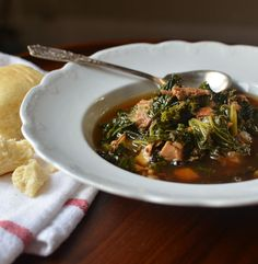 Delicious! Bacon, Kale and (leftover) Turkey Stew.