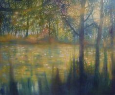"Saatchi Art Artist Jo Louca; Painting, ""Enfolding reflection"" #art"