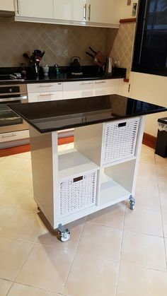 Ikea Kallax Hack for Kitchen Island (Diy Desk)