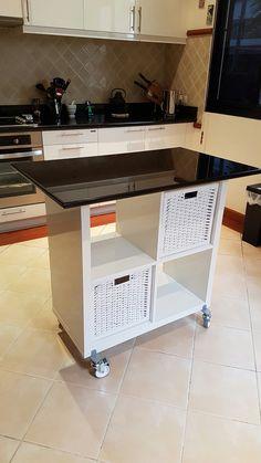 Ikea Kallax Hack for Kitchen Island