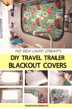 #Camping #trailers #campinghacks #everyone If youre taking the family camping this summer in your travel trailer RV then make sure everyone gets a good nap with these easy rv window blackout covers They are way more attractive than just a piece of cardboard and can be modified as much as you like for temp control or darkness Best of all they are super cheap and require no sewing This is a quick rv product you can diy and save some moneybrp classfirstletterwelcome to the website with the Most…