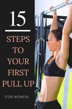 15 Exercises to Get You to Your First Pull Up - Fit Female Club Spartan Race Training, Mental Training, Weight Training, Strength Training, Bar Workout, Workout Plans, Workout Ideas, Fitness Tips For Women, Lose 50 Pounds