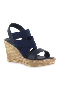 f8503447c85 Tuscany By Easy Street Women s Felisa Wedge Sandal - - No Size Navy Blue  Wedge Sandals