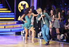 "Sharna Burgess & Charlie White jive to ""Happy""  by Pharrell Williams  -   'Dancing With The Stars'  -  week 3  -  season 18  -  March 31, 2014  -  Scored 9+9+9+9 =36 of 40 possible points  -  guest judge was GMA's Robin Roberts"