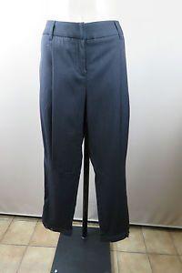 Size 12 M Ladies Black Taper Dress Pants Unique Crop Edgy Business City Style | eBay