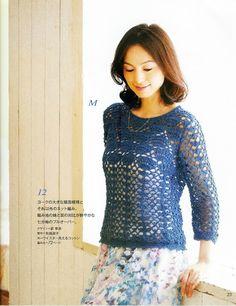 Crochetemoda: Blusa de Crochet ~ Diagrams/Charts ~ Not in English